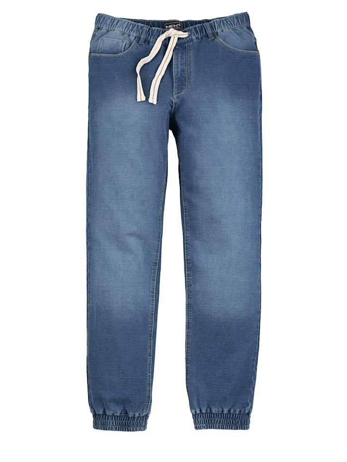 Men Plus Sweatpants in usedlook, Blauw