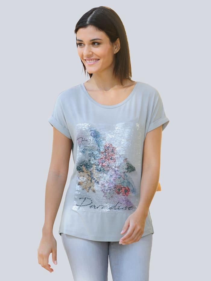 Alba Moda Shirt mit exklusivem Dessin, Grau
