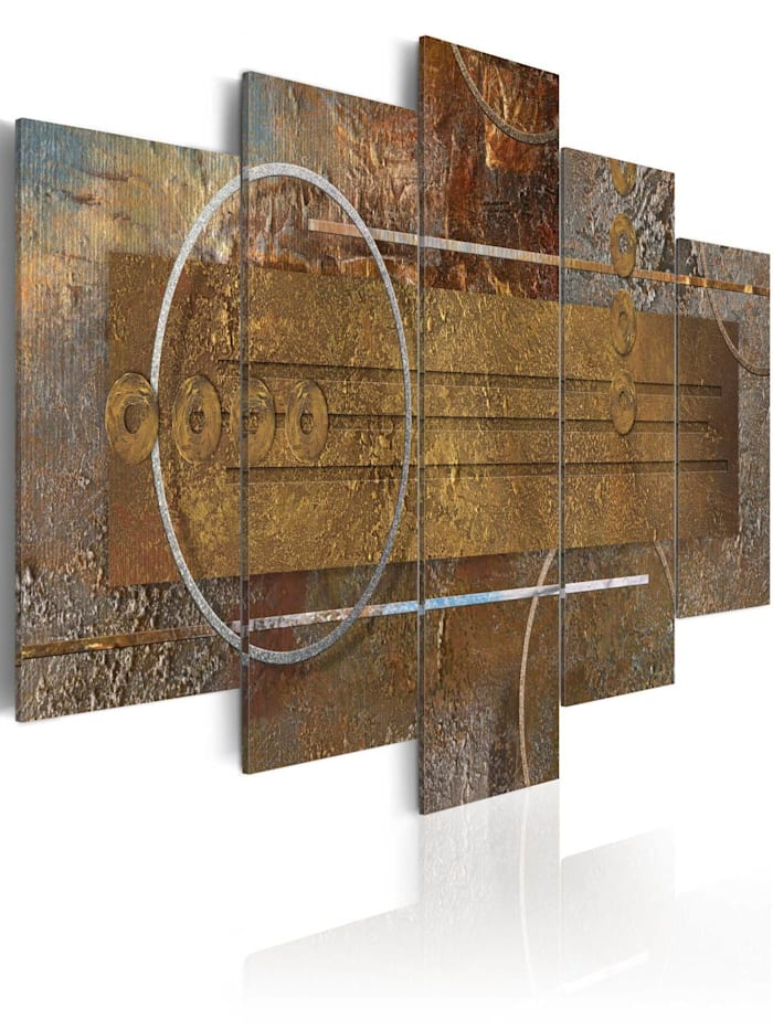 artgeist Wandbild Golden Depths, Braun,Gold