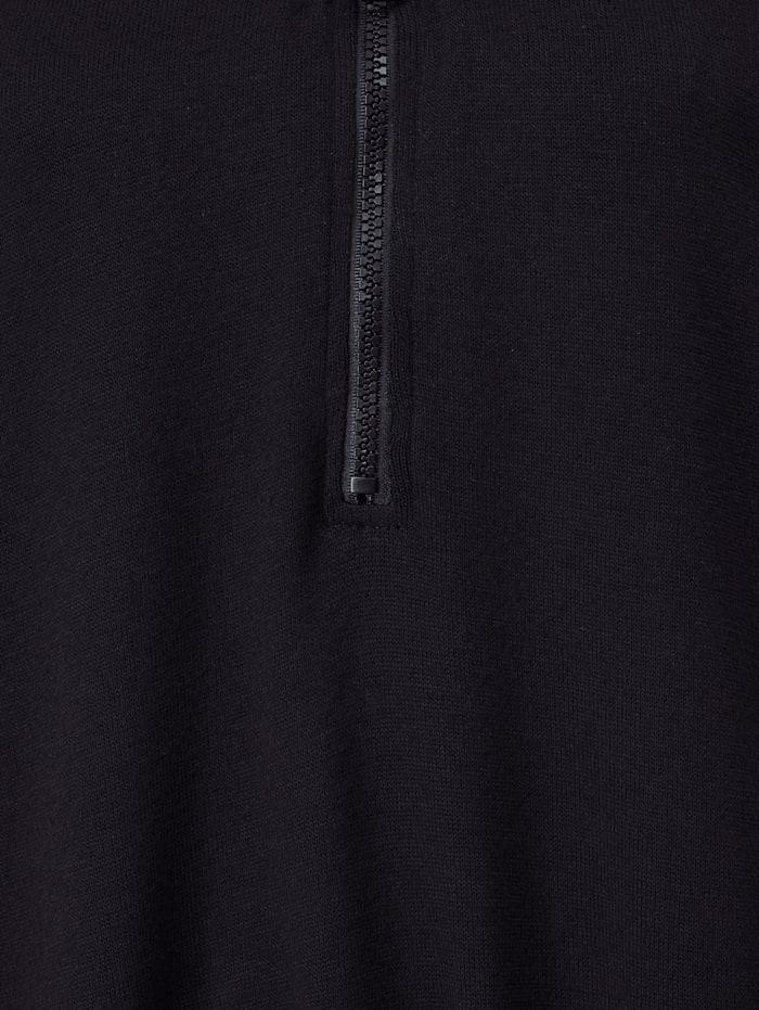 Longshirt mit Reißverschluss am Ausschnitt