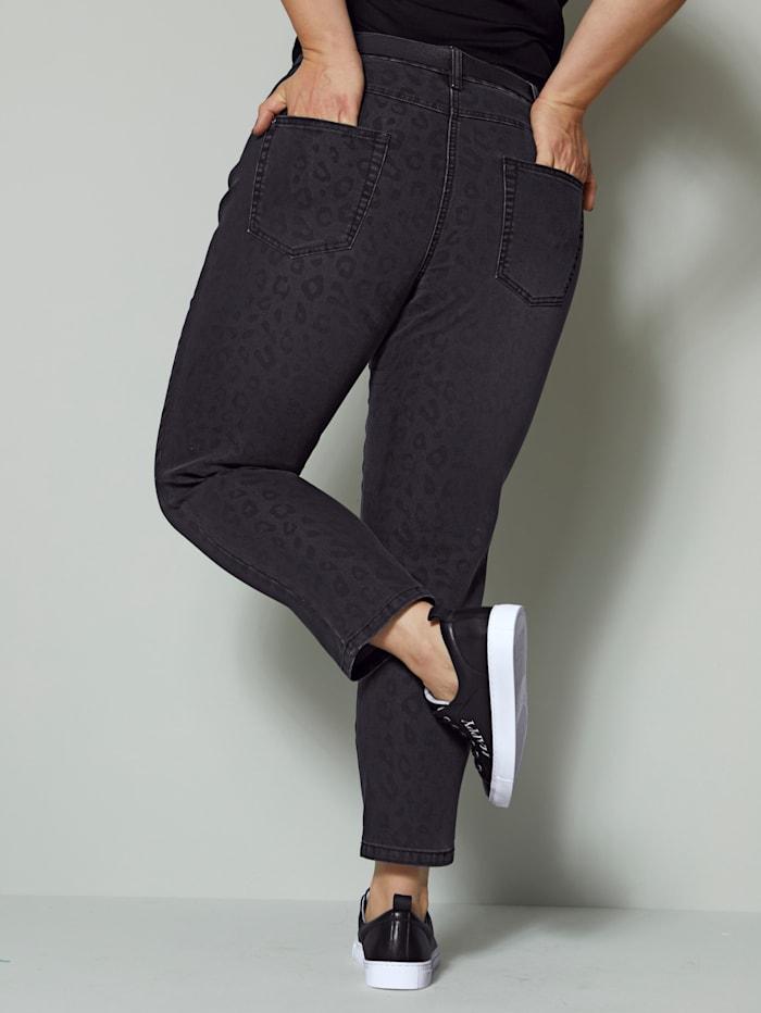 Jeans mit dezentem Leo-Muster