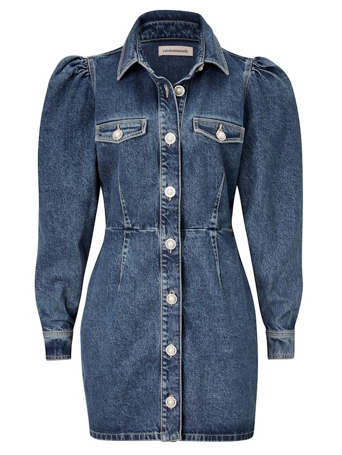 Custommade Jeanskleid, Jeansblau