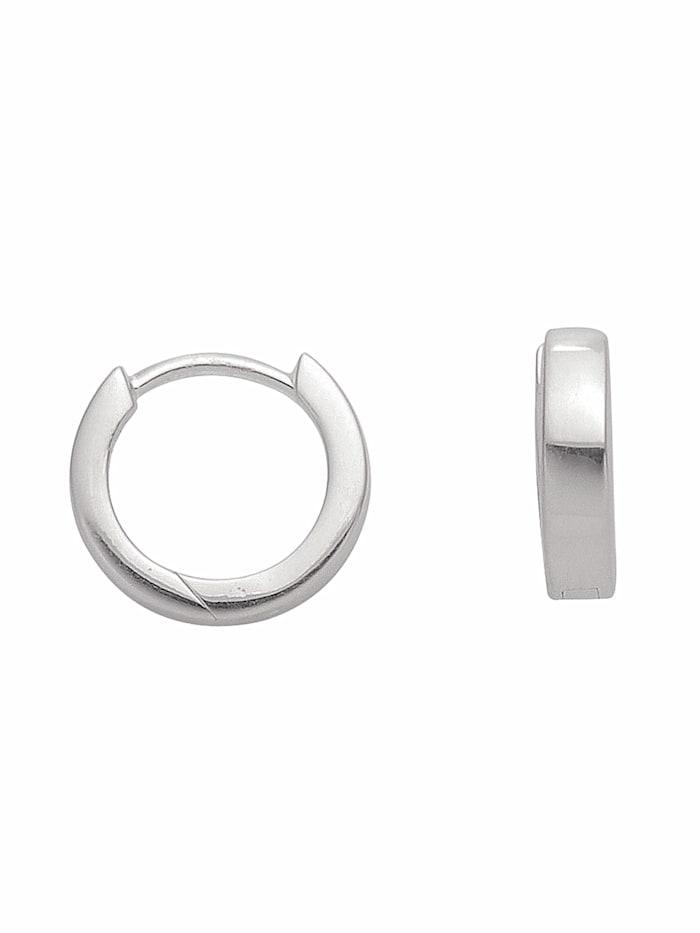 1001 Diamonds 1001 Diamonds Damen Silberschmuck 925 Silber Ohrringe / Creolen Ø 12 mm, silber