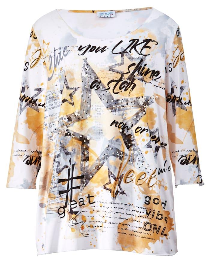 Shirt mit Dekoperlen und Steinchen