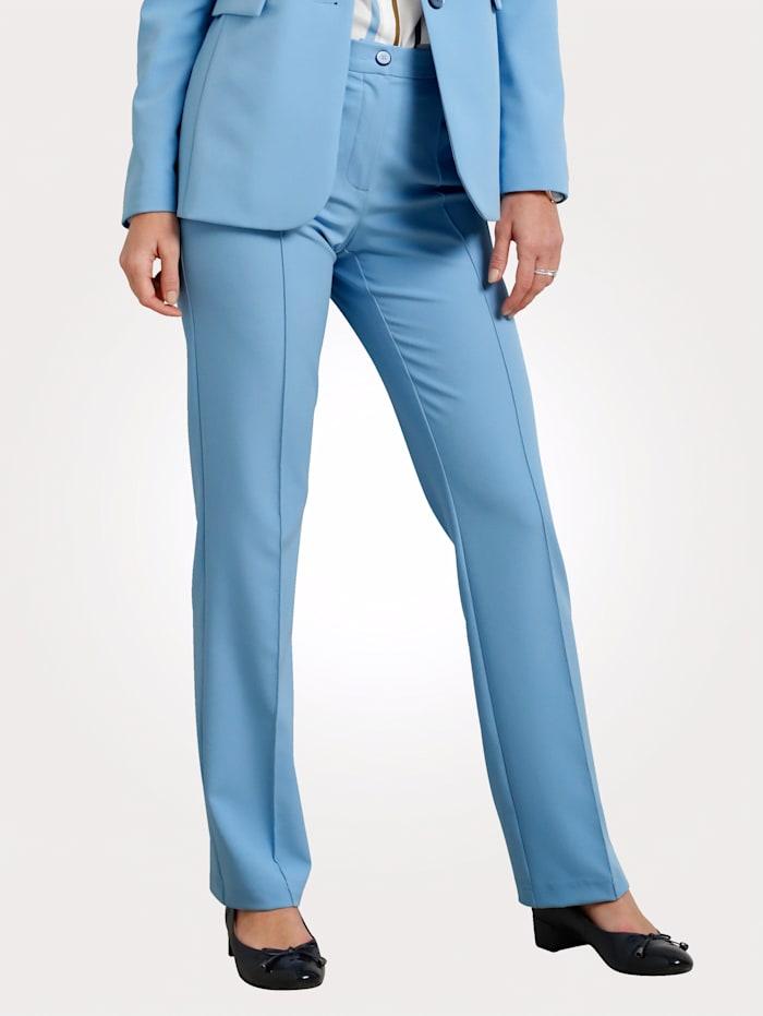 MONA Pantalon en matière bi-extensible, Bleu ciel