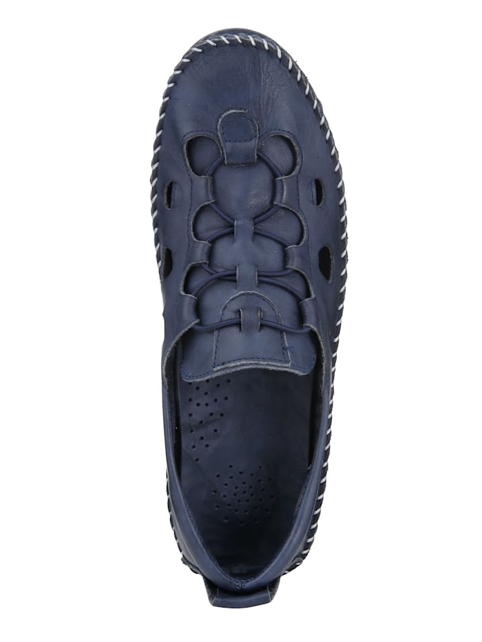 Loafer with elasticated lace-up detailing