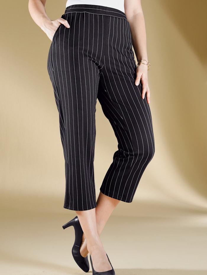 m. collection Jupe-culotte à motif rayé tendance, Noir/Beige