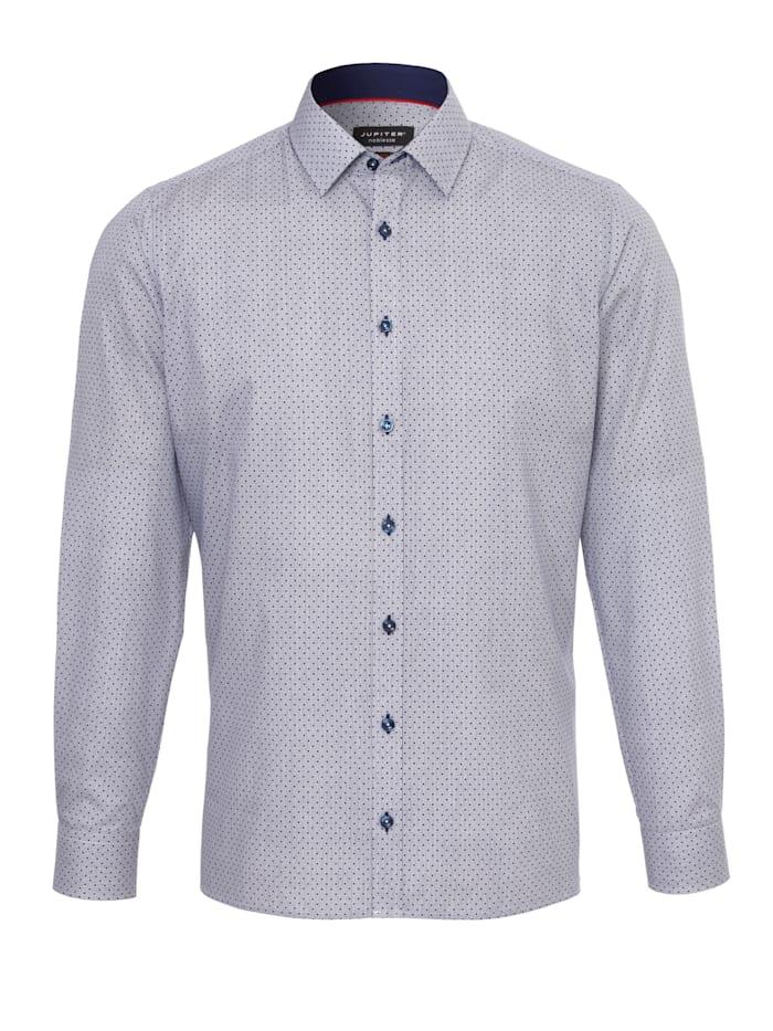 Jupiter Modisches Print-Hemd ohne Brusttasche, Druck Mittelblau