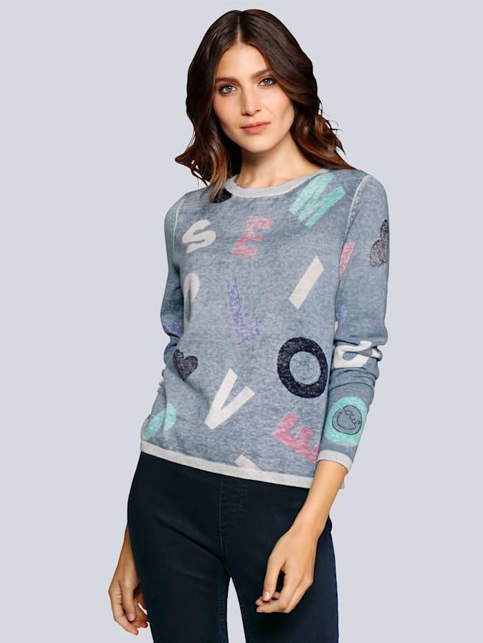 Pullover mit Buchstabenprint