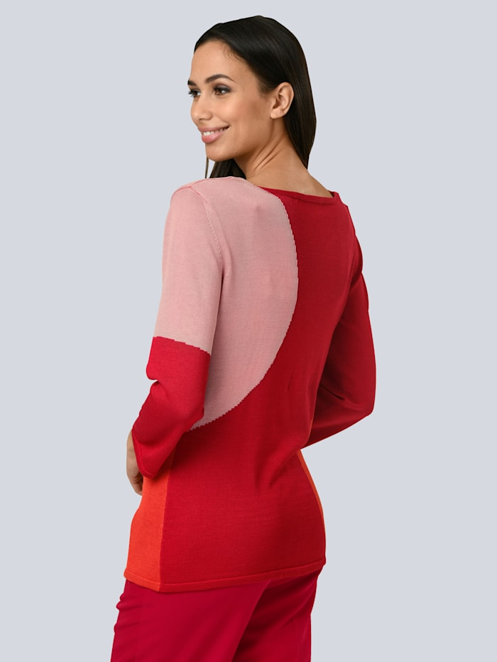 Vest met modieuze colourblocking