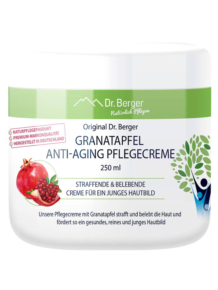 Dr.Berger Crème de soin anti-âge à la grenade - Crème raffermissante et revitalisante, Incolore