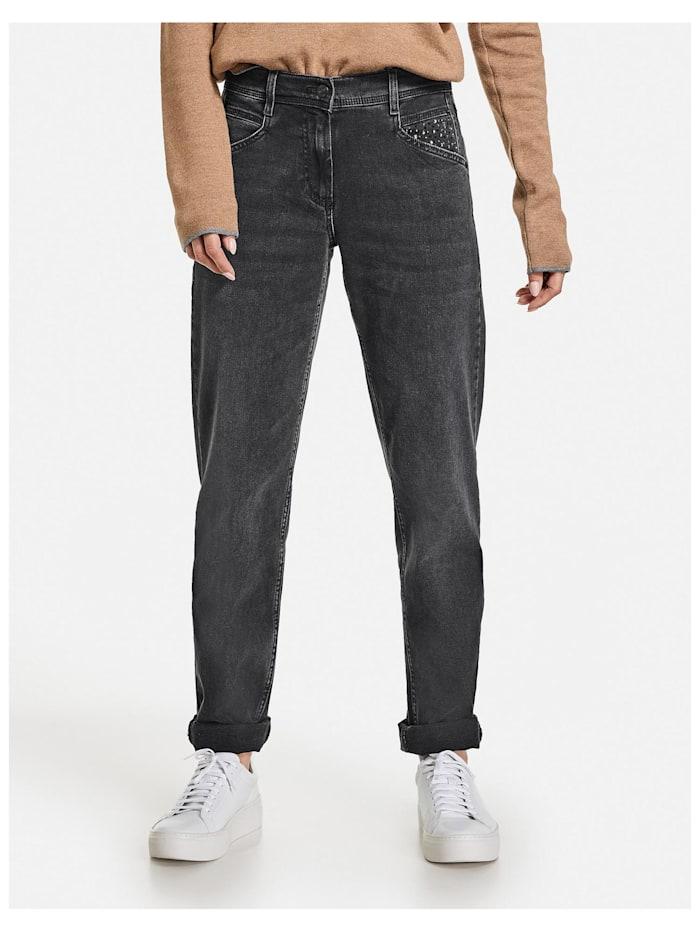Gerry Weber Jeans mit Krempelsaum Relaxed Fit Organic Cotton, Grey Denim