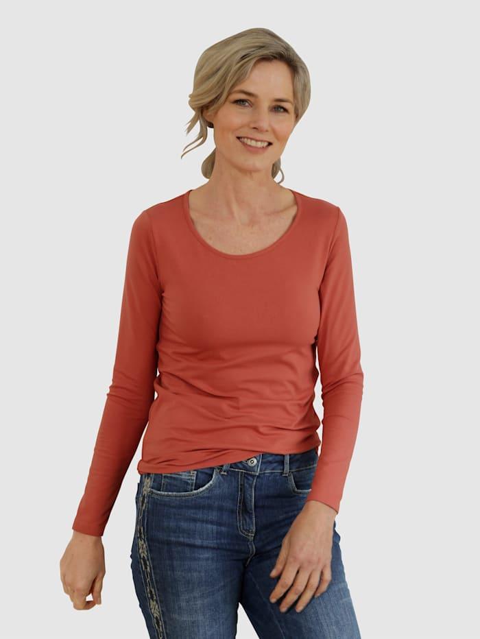 Dress In Shirt mit hohem Baumwollanteil, Rost