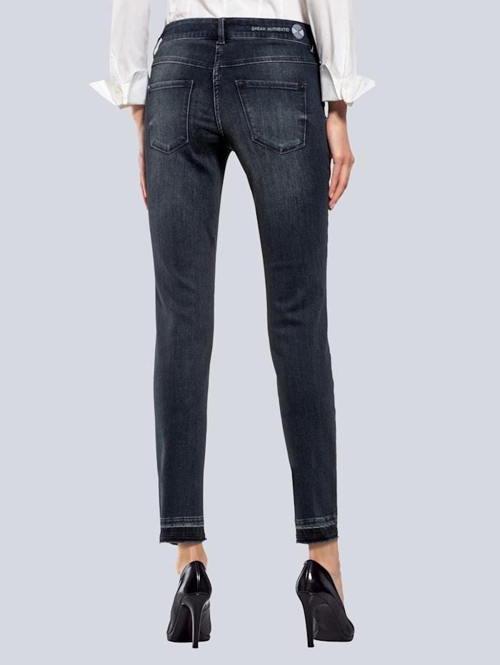Jeans 'Dream Skinny' mit Fransen am Saum