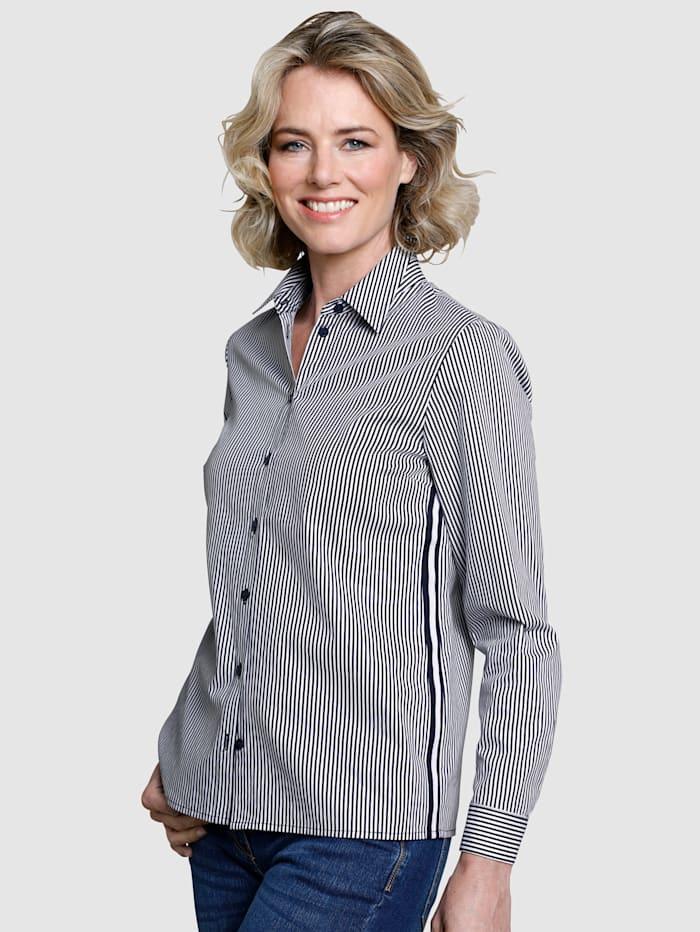 Dress In Bluse in Streifendessin, Marineblau/Weiß