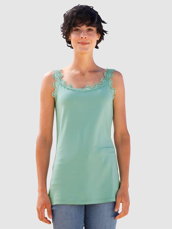 Dress In Spitzentop in toller Qualität, Lindgrün