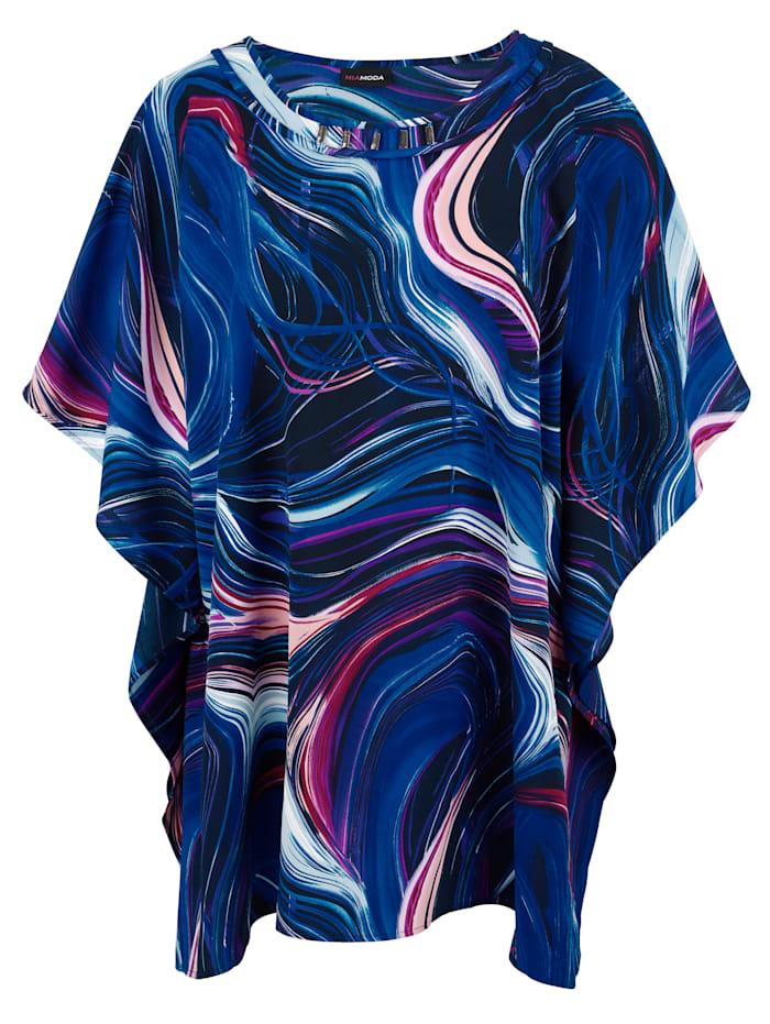 MIAMODA Tunika v širšom kaftanovom strihu, Multicolor