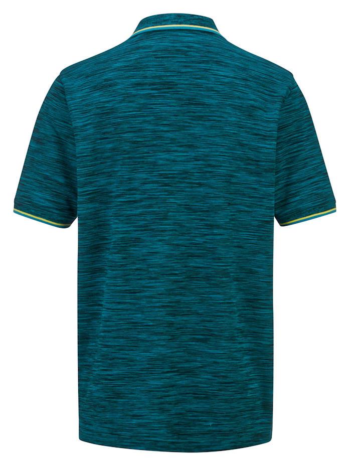 Poloshirt in harmonieuze gemêleerde look