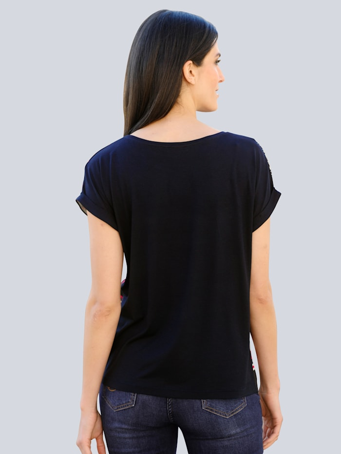 Shirt met exclusief Alba Moda dessin