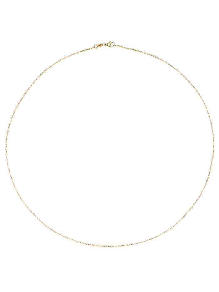 Chaîne maille ancrée en or jaune