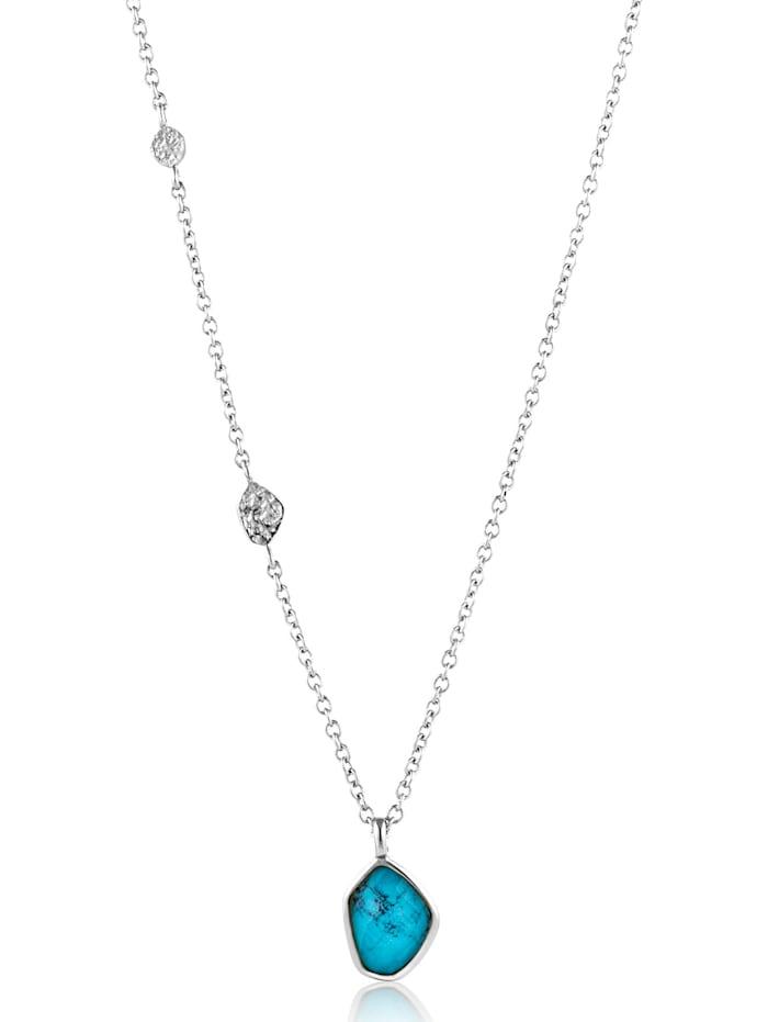 Ania Haie Ania Haie Damen-Kette Turquoise Pendant 925er Silber SynthetischTürkis, silber