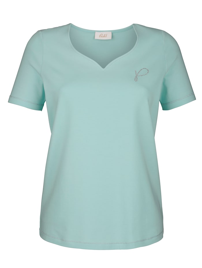 Shirt Modisches Shirt mit Herzausschnitt