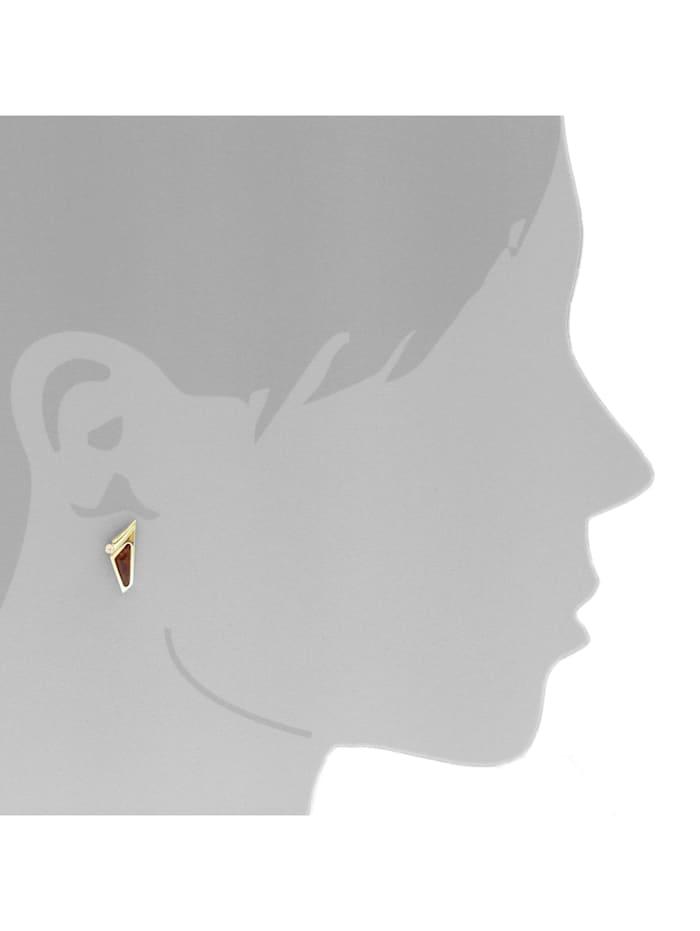 Ohrstecker - Agneta - Gold 333/000 - Bernstein/Zirkonia