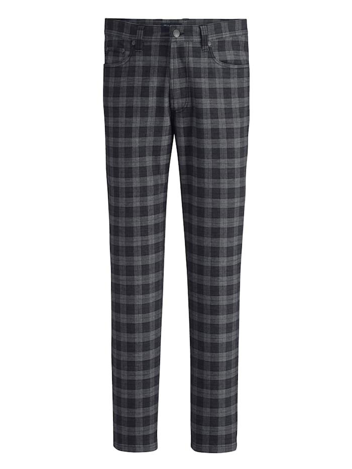 BABISTA Pantalon d'aspect laine, Gris/Anthracite
