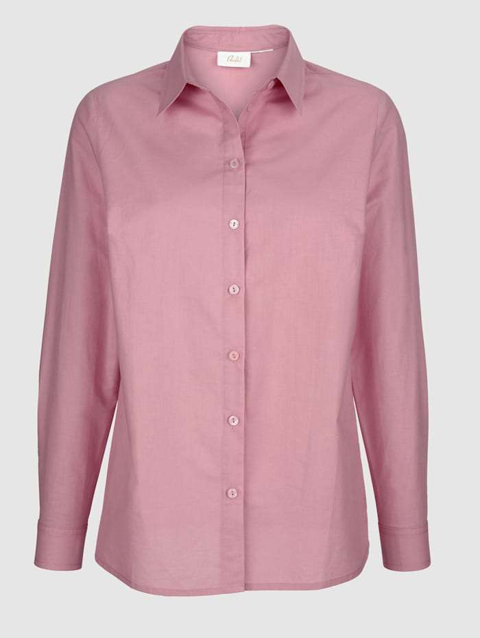 Bluse med klassisk skjortekrage