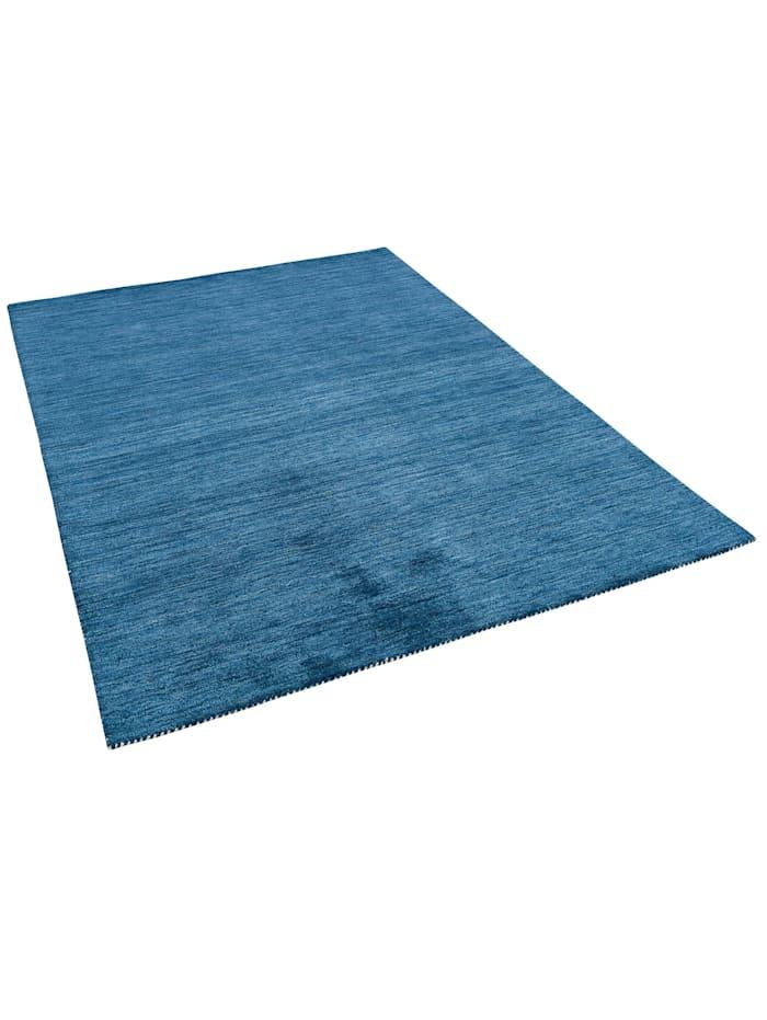 Theko®die Markenteppiche Natur Teppich Indo Gabbeh Ella, Blau