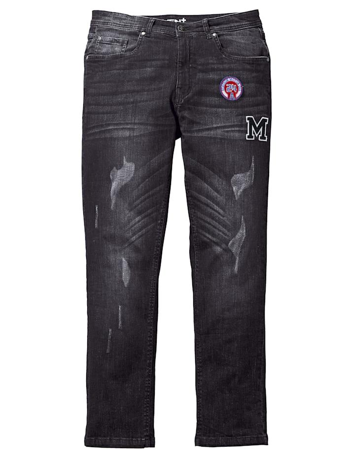 Men Plus Jeans i tapered fit, Black