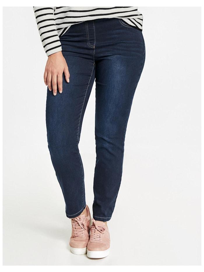 Samoon Jeggings Stretch-Jeans Lucy, Blue Denim