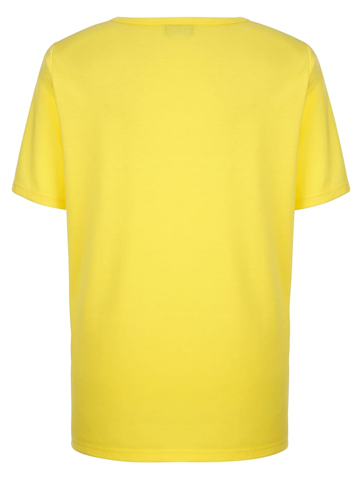 Shirt mit aufwendigem Strassfedermotiv
