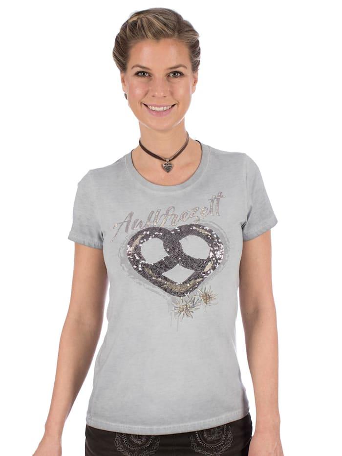 Marjo Trachten T-Shirt W05 - BREZN hellgrau, Grau