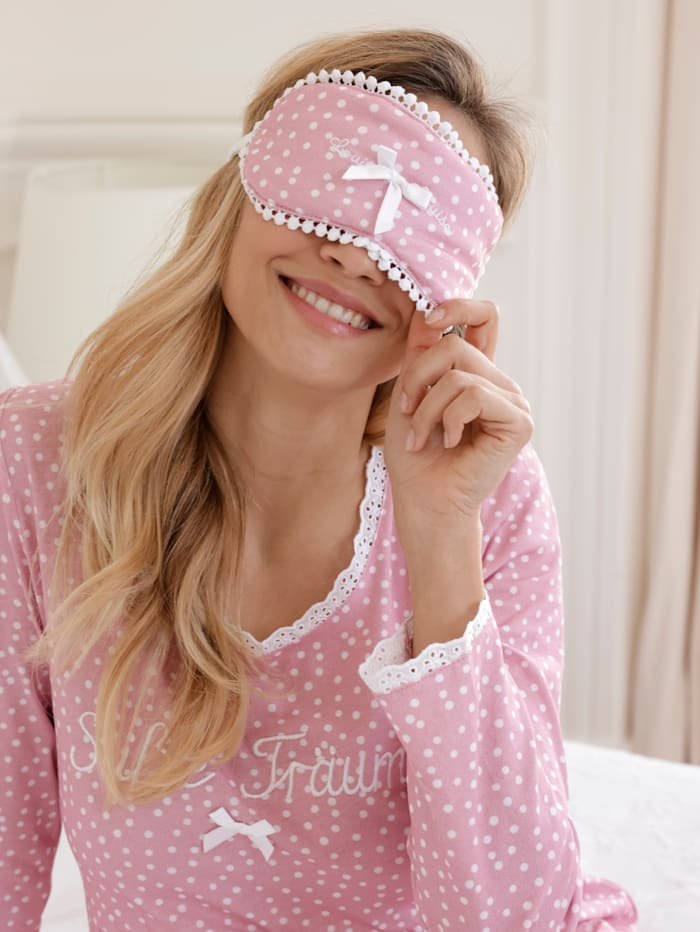 Eye mask with satin bow detail