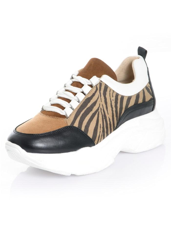 Alba Moda Sneaker aus Textil, Braun/Schwarz