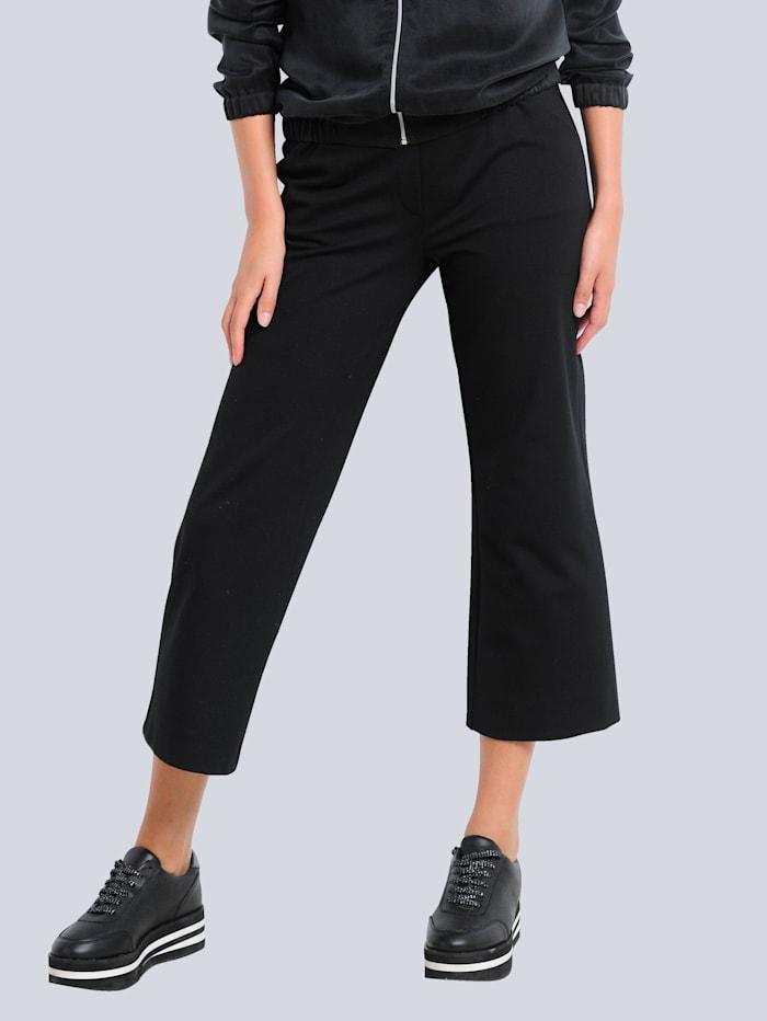 Alba Moda Culotte in elastischer Jerseyware, Schwarz