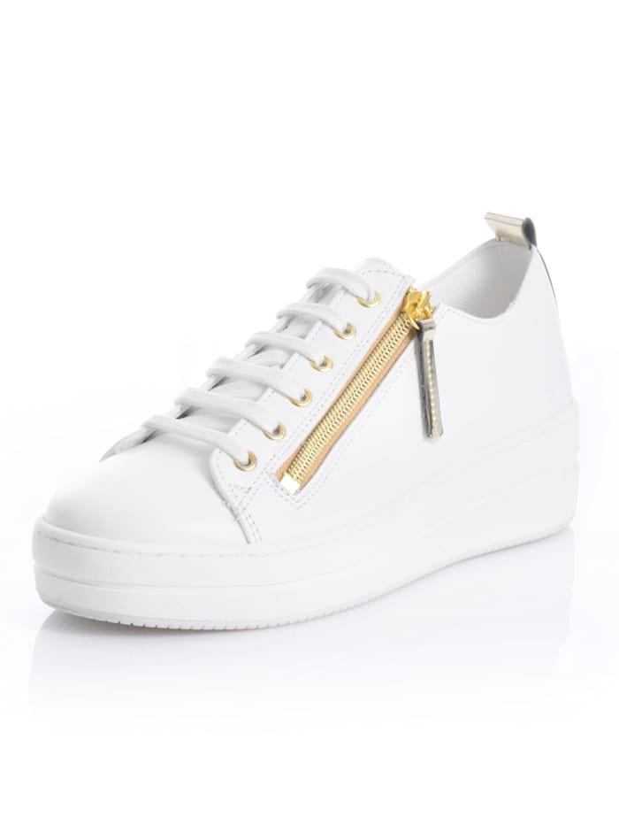Alba Moda Sneaker aus Rindsnappaleder, Weiß