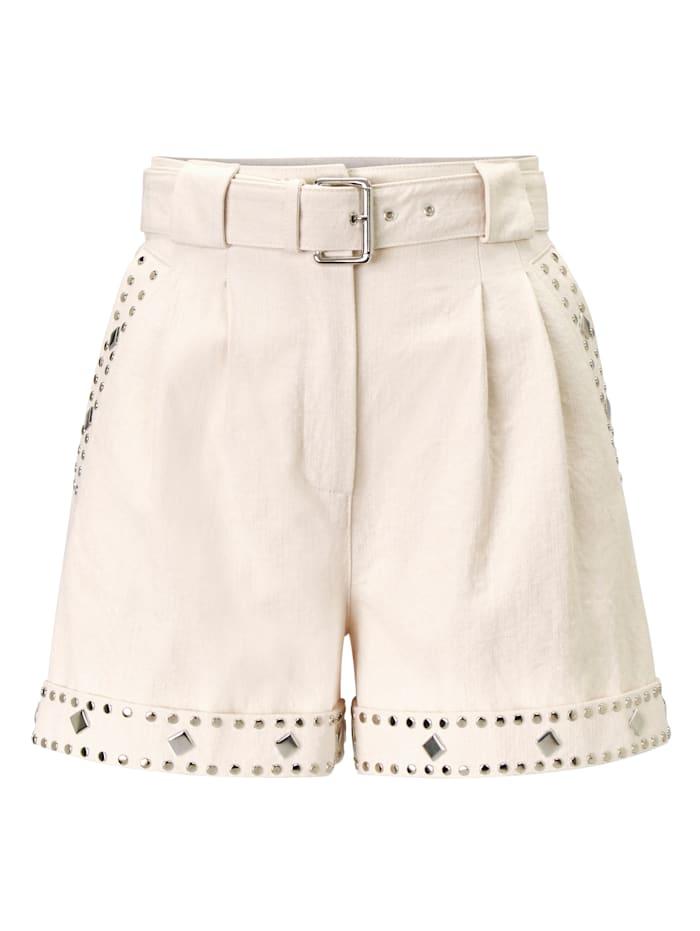 Twinset MILANO Shorts mit Besatz, Creme-Weiß