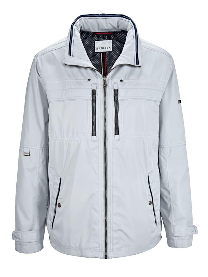 BABISTA Jacke aus extrem leichter Qualität, Silbergrau