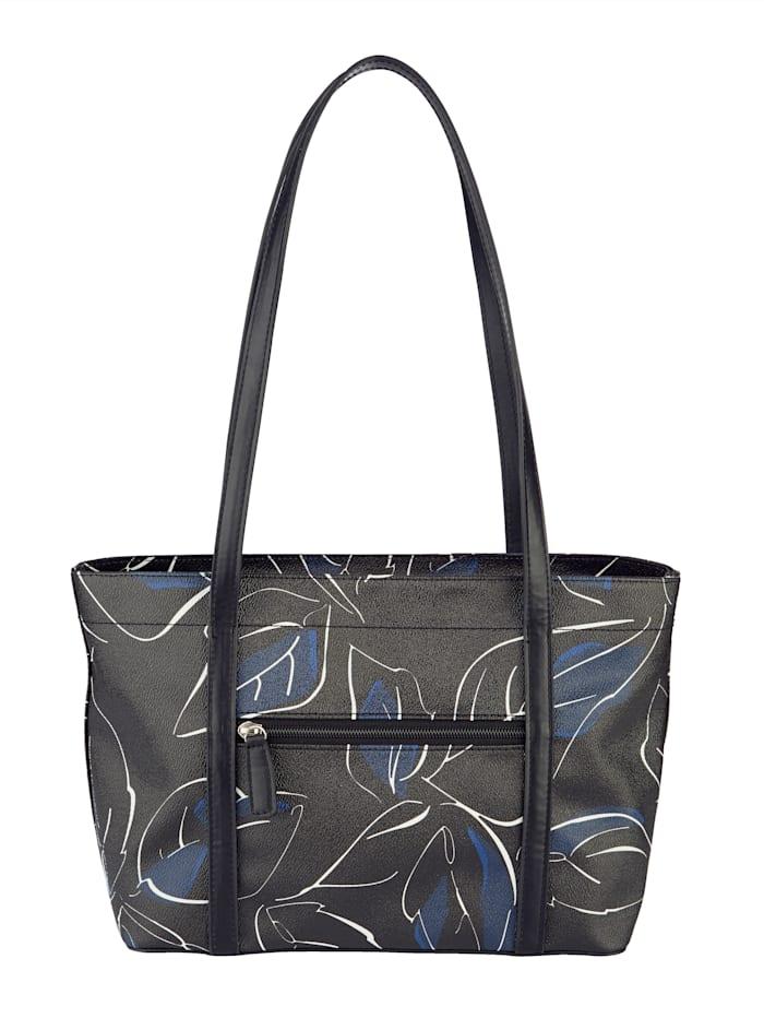 Handbag with floral pattern