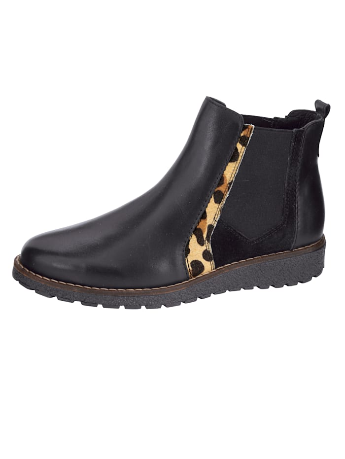 Filipe Shoes Chelsea Boot in aufregendem Material-Mix, Schwarz