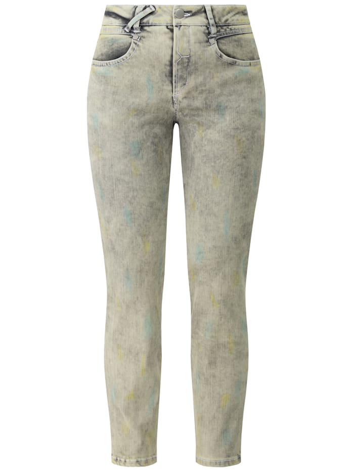 RECOVER Pants Jeans in Batikoptik, schilf