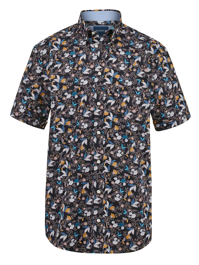 BABISTA Košile s květinovým potiskem, Černá