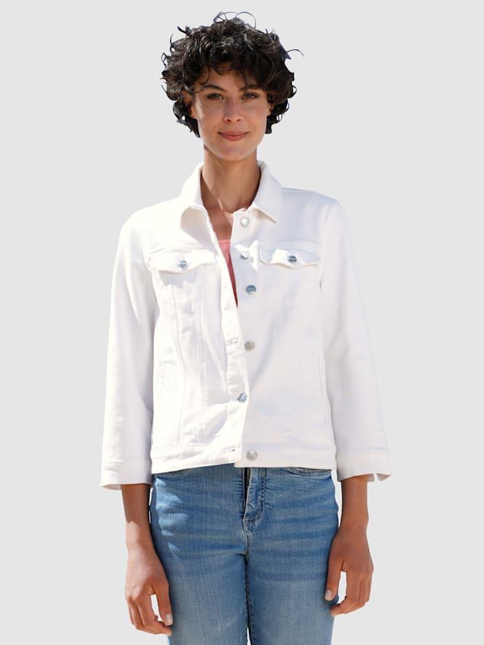 Dress In Jeansjakke i kort modell, Hvit