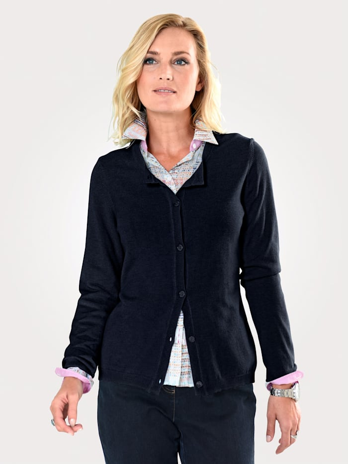 MONA Cardigan made from a soft fabric blend, Navy