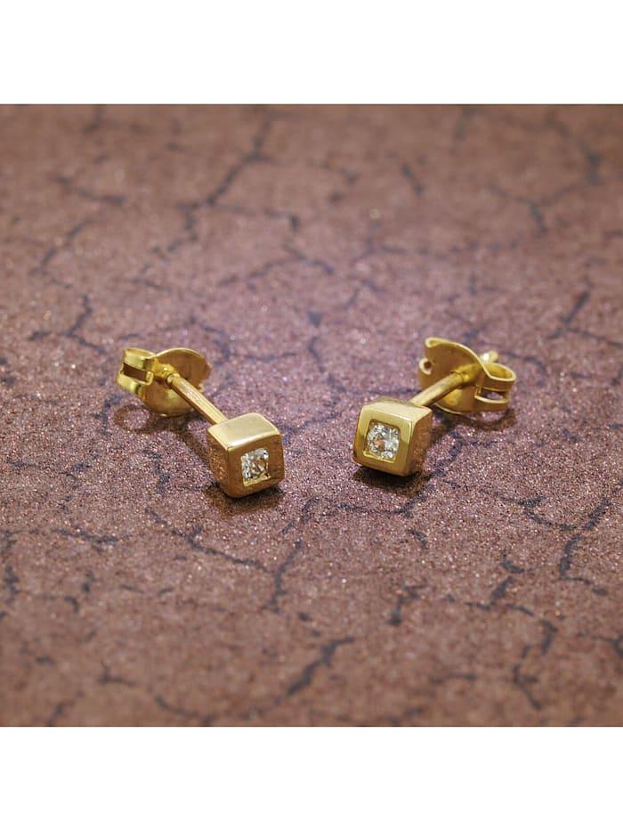 Ohrringe mit Zirkonia Gold 333 / 8 Karat