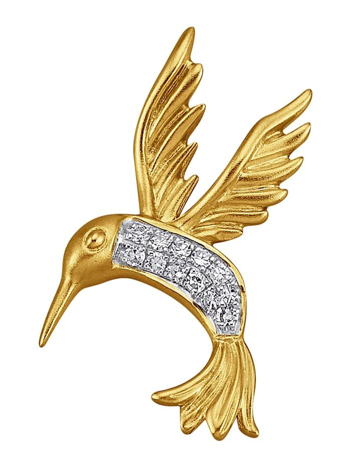 Diemer Highlights Anhänger mit Diamanten, Gelbgoldfarben
