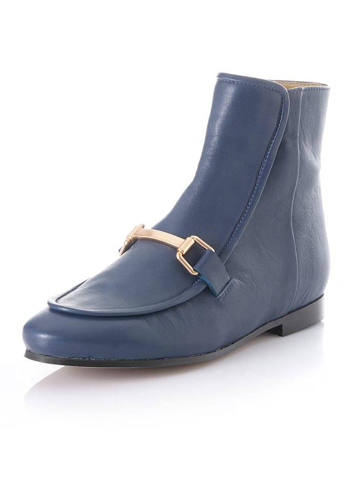 Alba Moda Stiefelette in Slipper-Optik, Blau