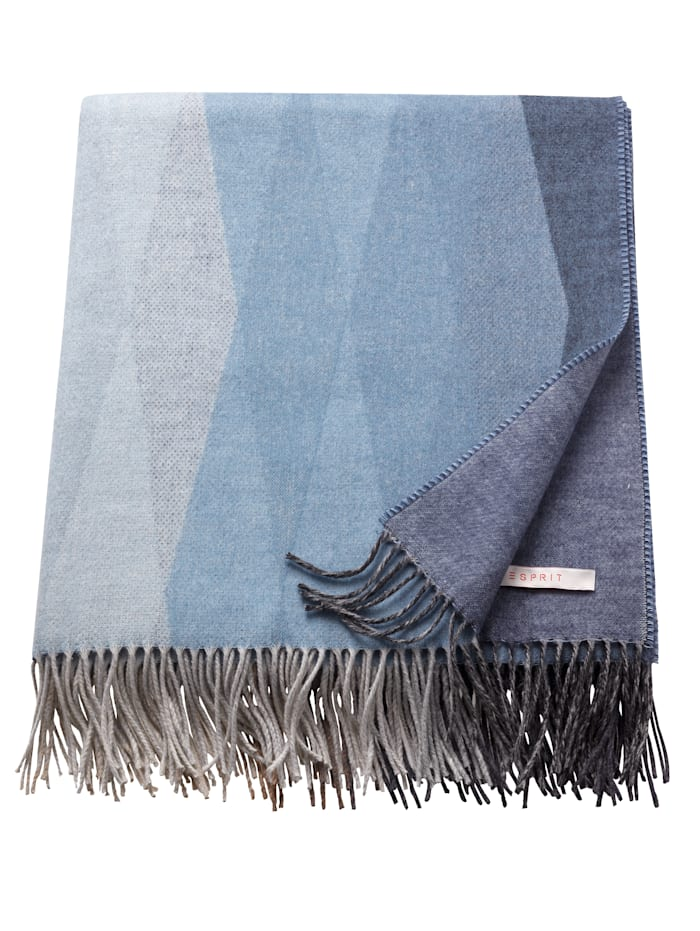 Esprit Plaid 'Rombo', Grau / Blau